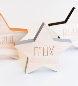 Wooden Decor Name Star