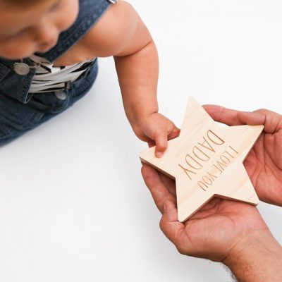 Wooden Star with Name for Daddy